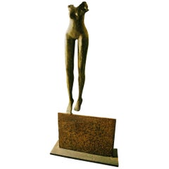 Body Lady Sculpture in Solid Bronze