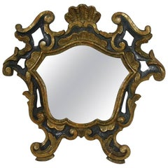 18th Century, Italian Carved Wood Baroque Mirror