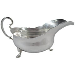 English Georgian Sterling Silver Gravy Boat