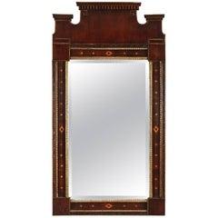 18th Century Neoclassical Inlaid Mahogany Mirror