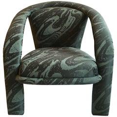 Modern Three-Leg Milo Baughman Style Lounge Chair by Carsons