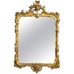 18th Century Dutch Louis XV Giltwood Mirror