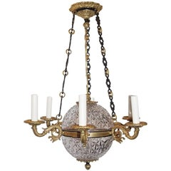 French Crystal Empire Chandelier