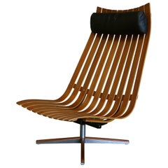 "Hans Brattrud ""Scandia"" Swivel Lounge Chair for Hove Mobler"