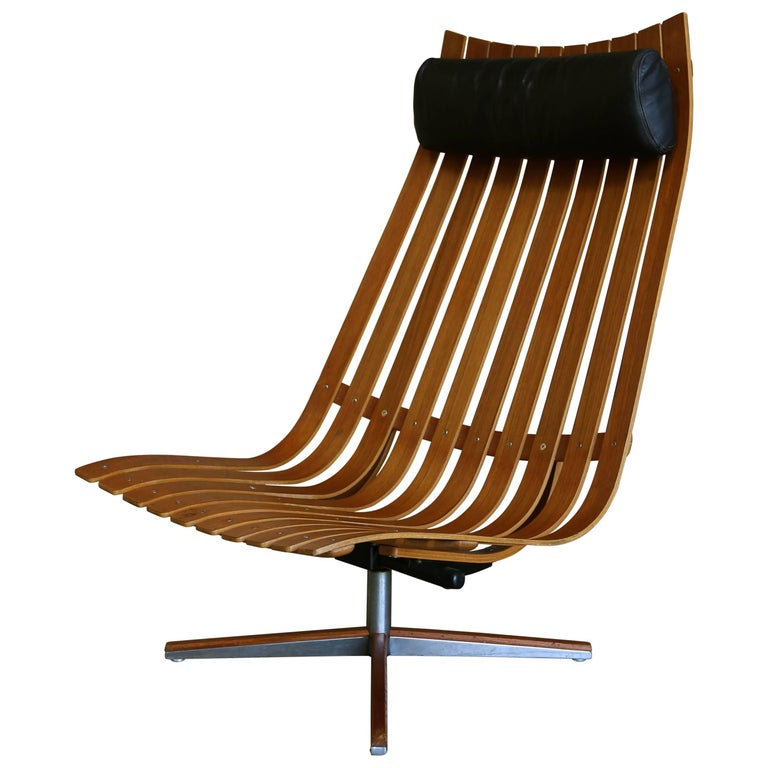 """Hans Brattrud """"Scandia"""" Swivel Lounge Chair for Hove Mobler"""