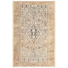 Small Tribal Antique Persian Malayer Rug