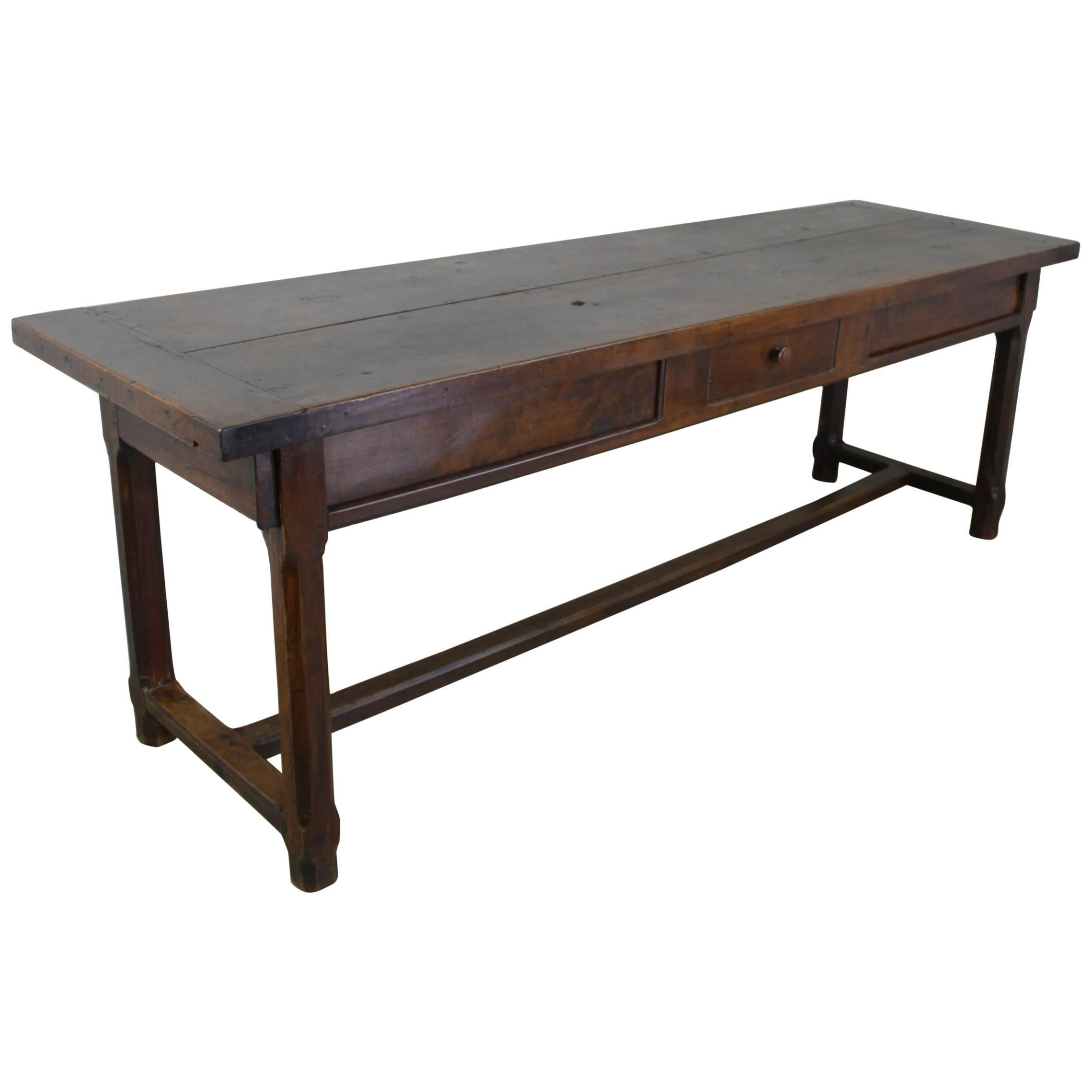Superbe Large Antique French Fruitwood Server Or Work Table For Sale
