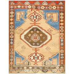 Small Scatter Size Tribal Antique Turkish Karapinar Rug