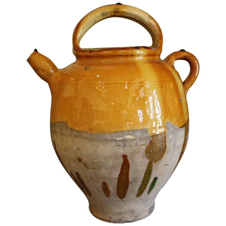 French Terracotta Vinaigrier Pot 1