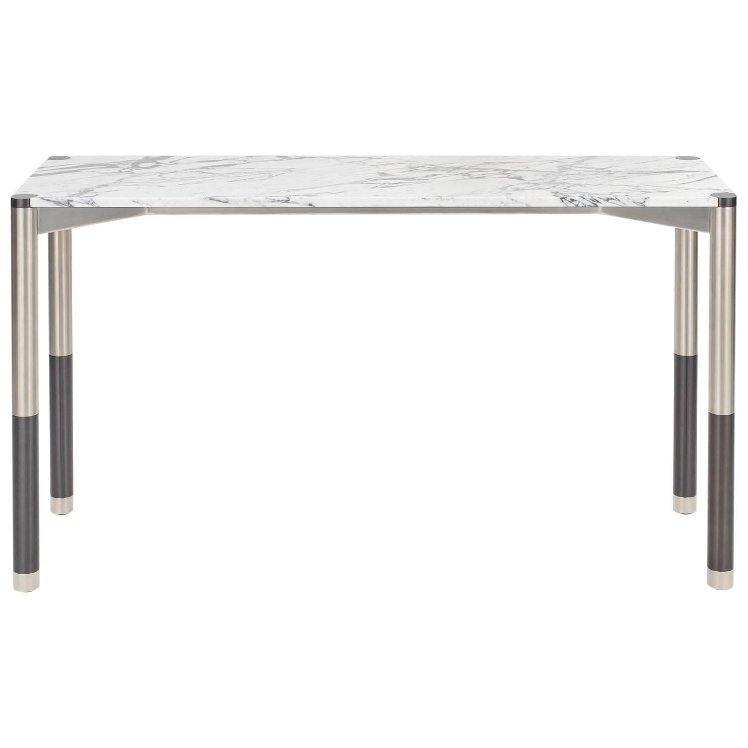 Nova Console Table with Marble Top by AVRAM RUSU STUDIO