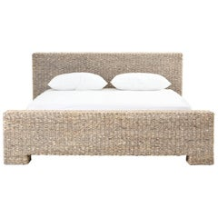 Low Profile Rattan Bed in King-Size
