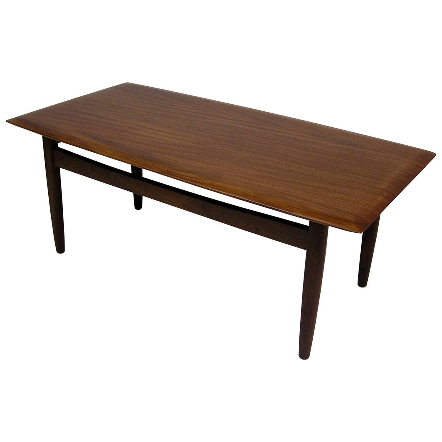 1960s Solid Teak Mid Century Modern Coffee Table by Jan Kuypers