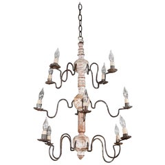 Early 19th Century, Swedish Wood Chandelier