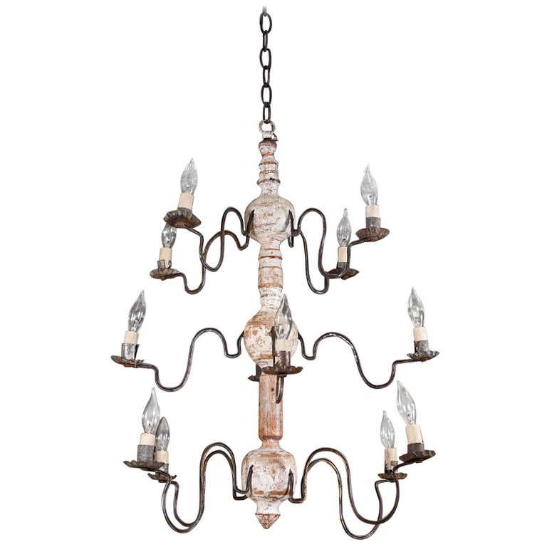 Early 19th Century, Swedish Wood Chandelier 1