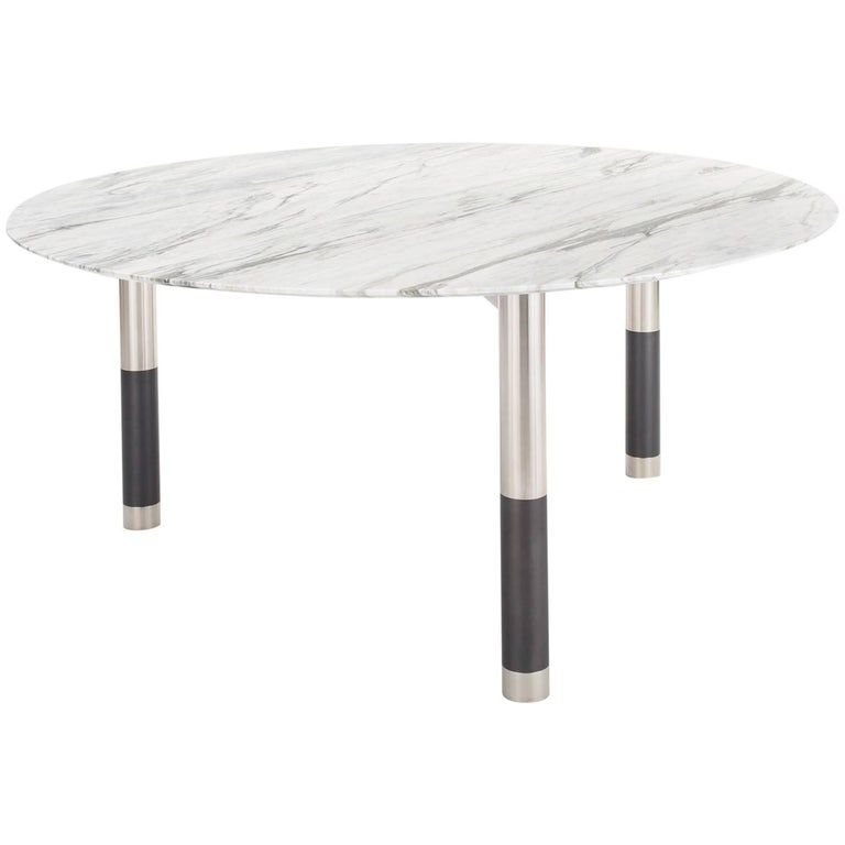 Nova Round Marble Dining Table By Avram Rusu Studio For