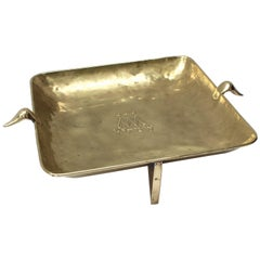 Brass Austrian Christmas Tray