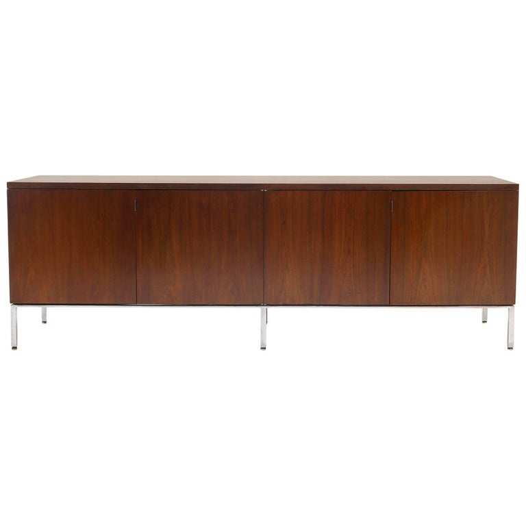 Rosewood Credenza/Media Cabinet Designed by Florence Knoll, Excellent