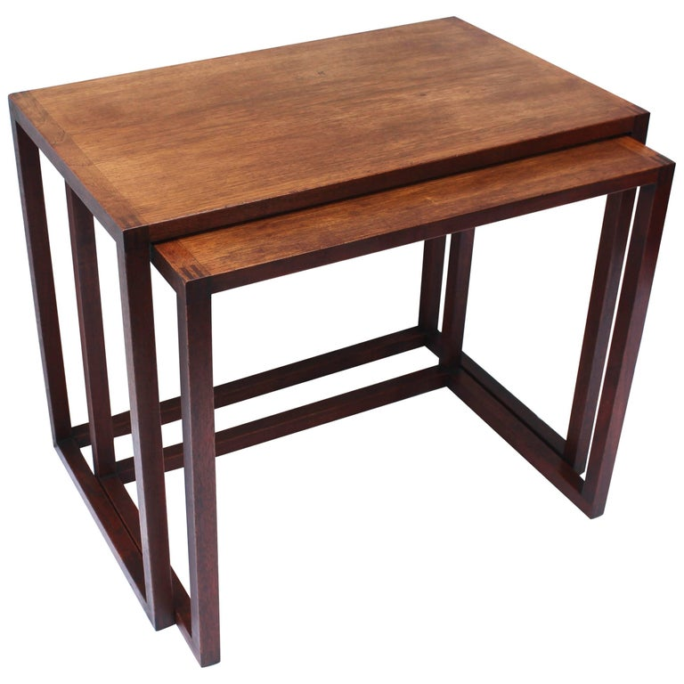 Set of Two Swedish Nesting Tables by Karl Erik Ekselius For Sale