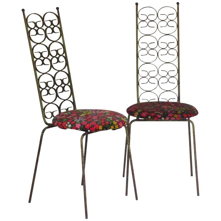 Ribbon Back Iron Chairs Arthur Umanoff