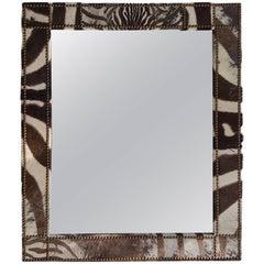 Large Zebra Hide Mirror II