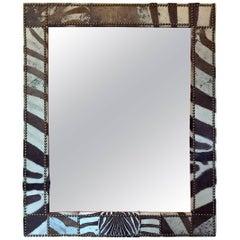 Large Zebra Hide Mirror I