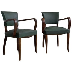 Pair of French 1940s Bridge Chairs