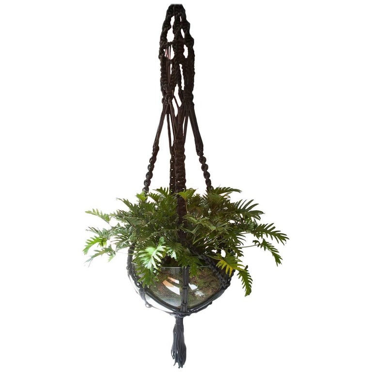 Custom Macrame Plant Hanger For Sale At 1stdibs