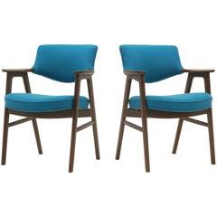 """Pair of Erik Kirkegaard Rosewood """"Elbow"""" Armchairs for Hong Möbelfabrik"""