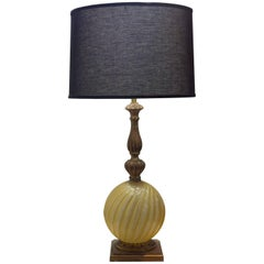 Murano Glass and Giltwood Lamp