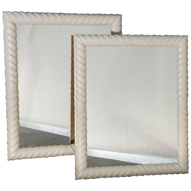 Pair of Mid-Century Italian Rectangular Mirrors, circa 1960