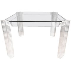 Uncommon Charles Hollis Jones Lucite and Glass Dining Table