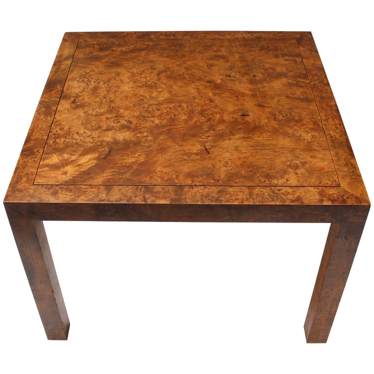 parsons style burl coffee table by john stuart for sale at 1stdibs. Black Bedroom Furniture Sets. Home Design Ideas