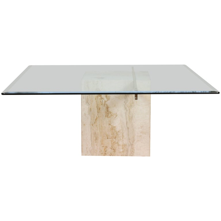 Vintage Marble And Glass Coffee Table At 1stdibs