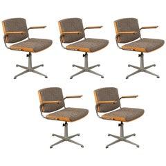 Six Danish Mid-Century Swivel Chairs