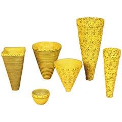Faux Pot Squared, Striped Faux Pot, Small Cone, Irregular Faux Pot, Small Bowl
