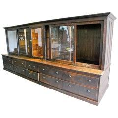 19th Century, Large Store Display Storage Cabinet