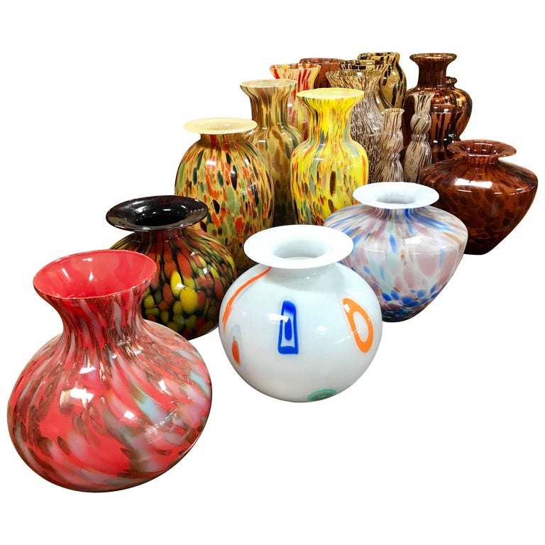 Florentine Handblown Vase in Various Shapes, Sizes and Colors from the 1980s 1