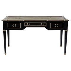 Antique French Louis XVI-Style Ebonized Desk