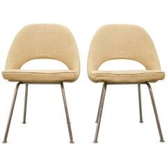 Eero Saarinen for Knoll, Pair of Dining Chairs on Chrome Feet