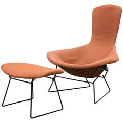 Harry Bertoia for Knoll International, Bird Chair with Ottoman