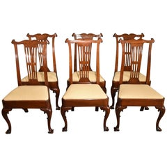 Superb Set of Six George III Walnut Dining Chairs