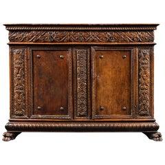 Important 16th Century, Renaissance Carved Walnut Credenza