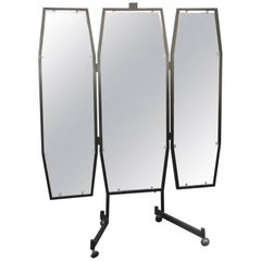 Room Mirror 1950 , metal ,lacquered ,  Mid-Century Modern Italian Design