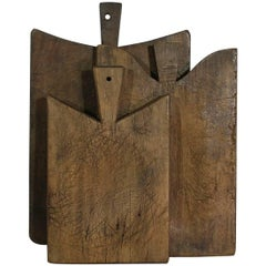 Collection of Three Rare French 19th Century, Wooden Chopping or Cutting Boards