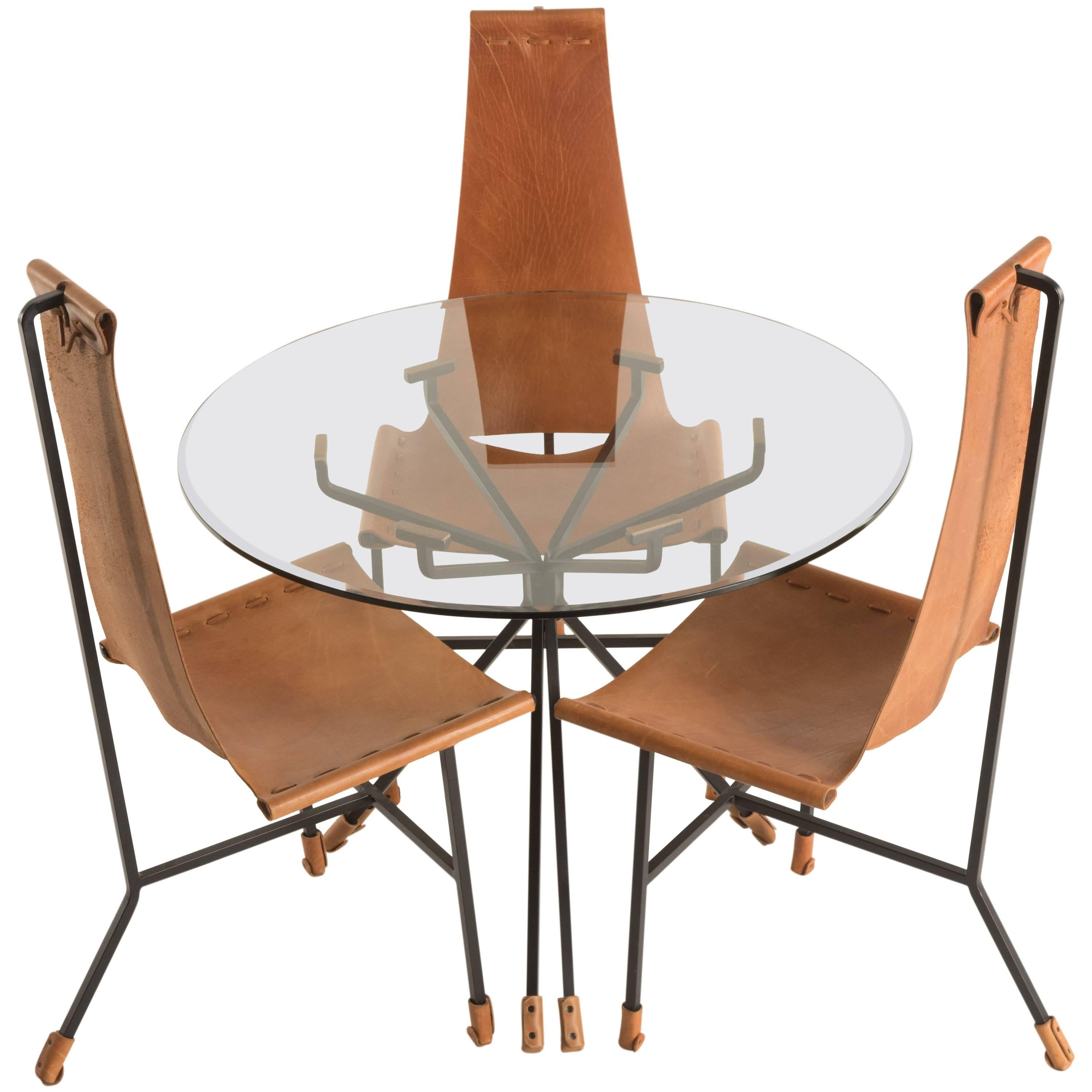 Dan Wenger Dining Set Of Three Chairs And Table 1