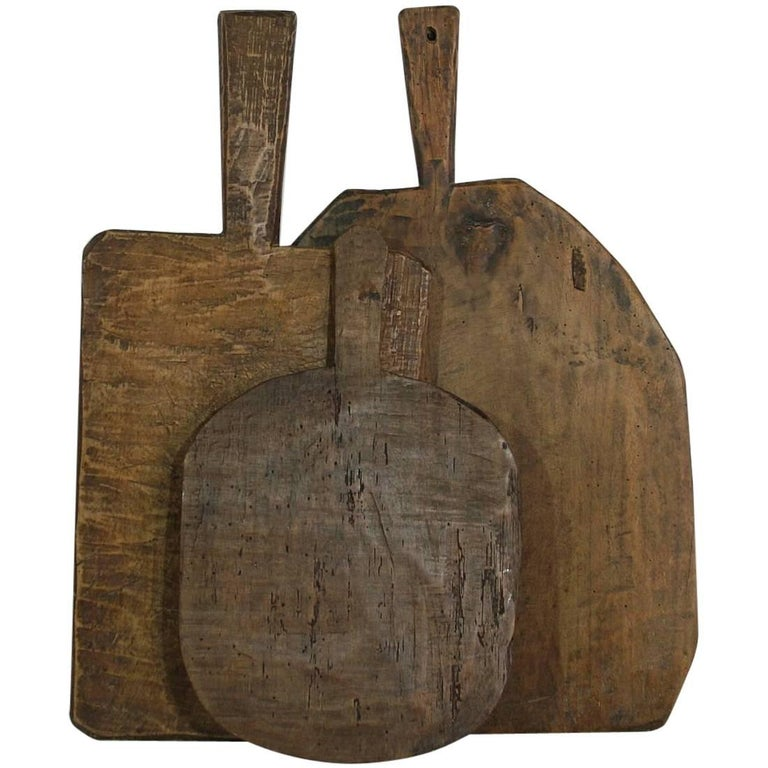 Collection of Three Rare French 19th Century, Wooden Chopping/Cutting Boards For Sale
