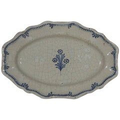 French, 18th Century Glazed Earthenware Rouen Platter
