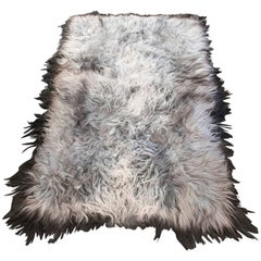 Icelandic Long Haired Sheepskin Rug or Throw