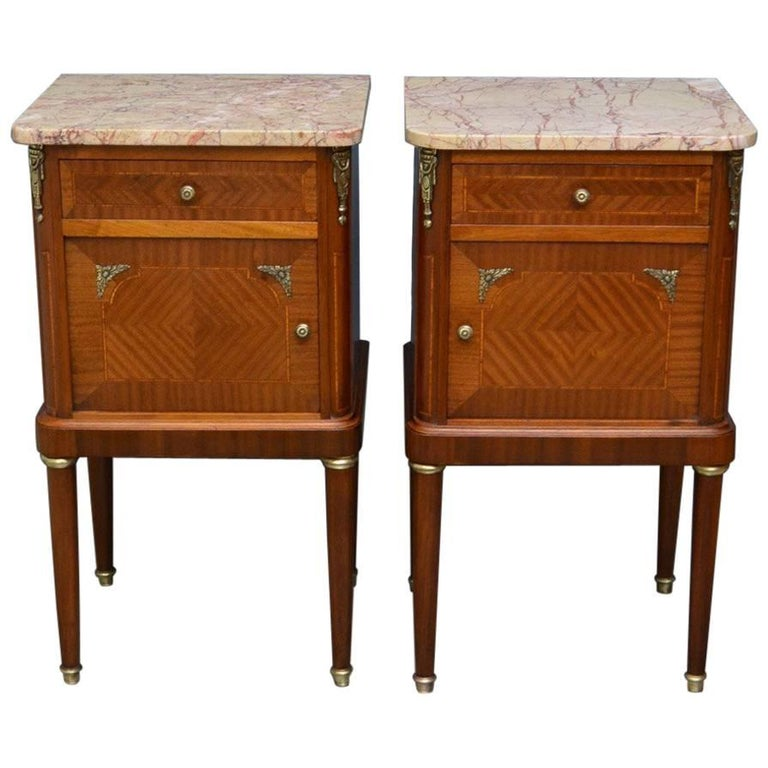 Pair of Antique Bedside Cabinets For Sale - Pair Of Antique Bedside Cabinets At 1stdibs