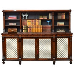Regency Rosewood Cabinet Bookcase